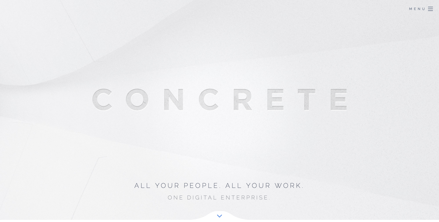 Concrete enterprise collaboration platform homepage