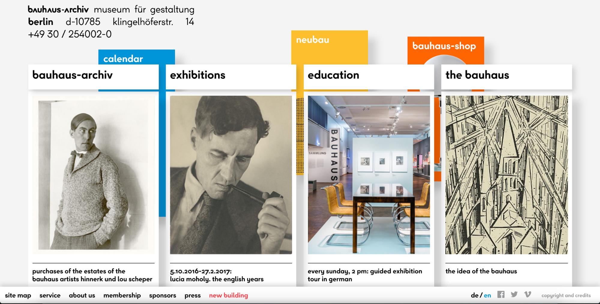 Bauhuas-Archiv homepage