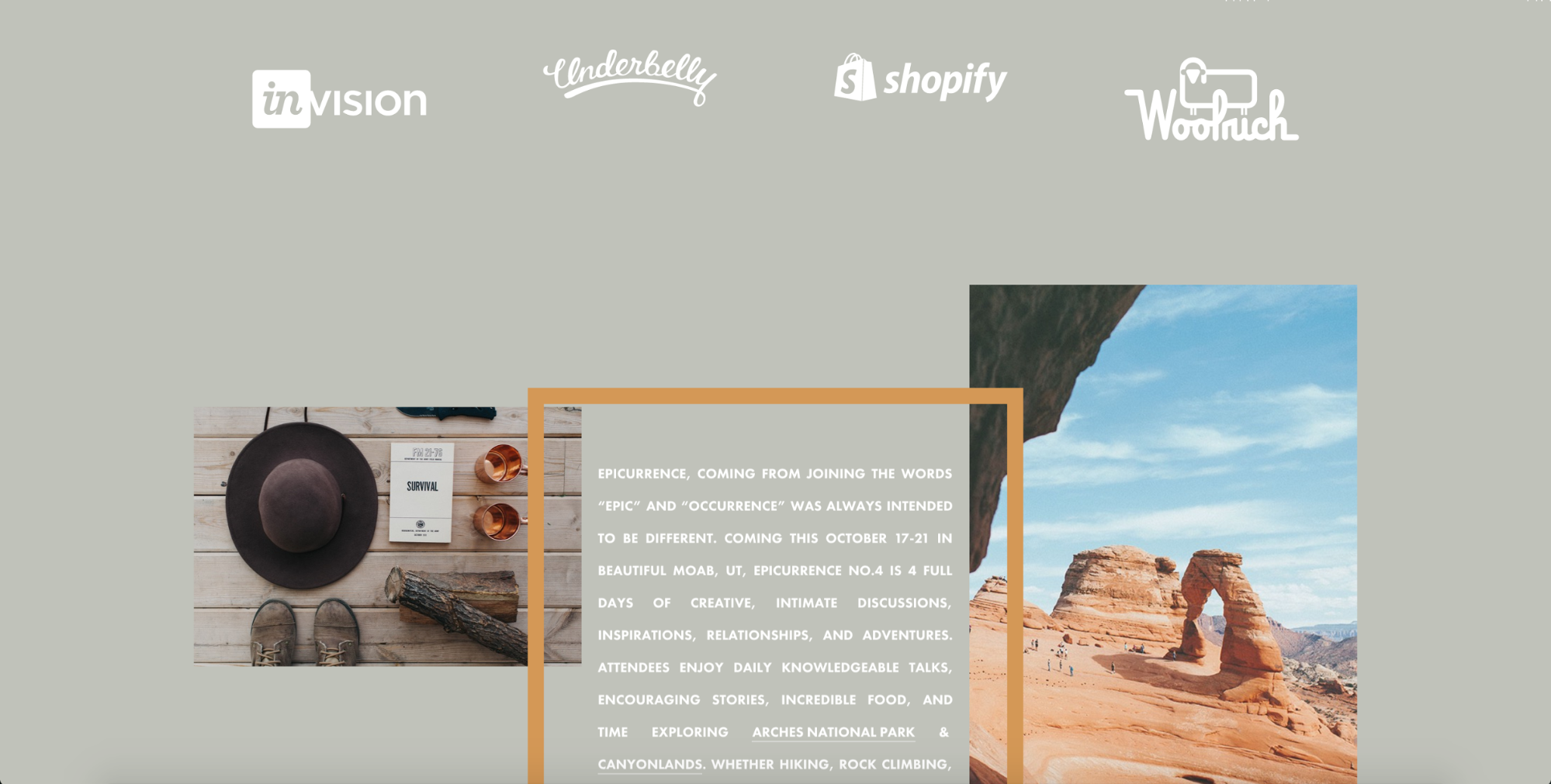 Epicurrence homepage