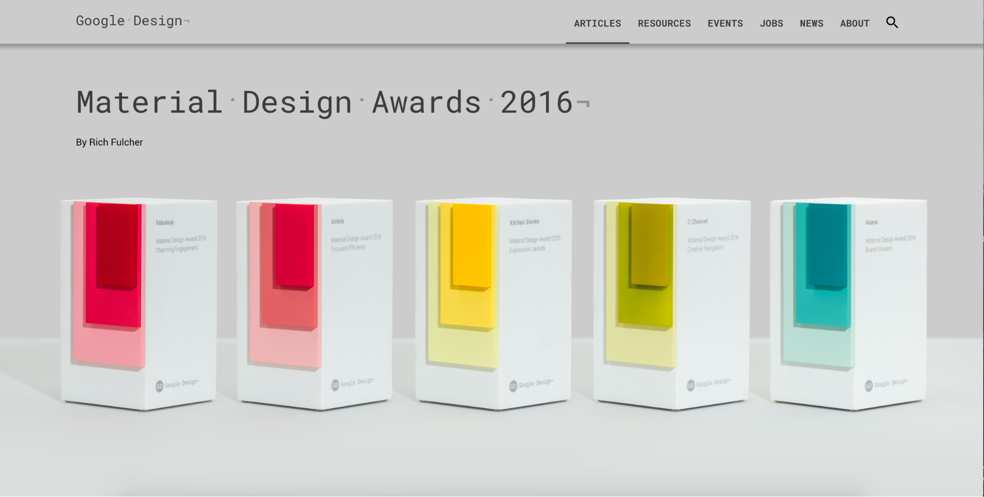 Material Design Award winners