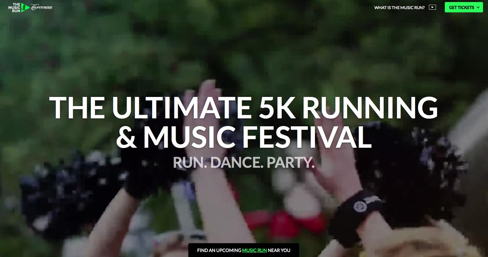 The Music Run event website