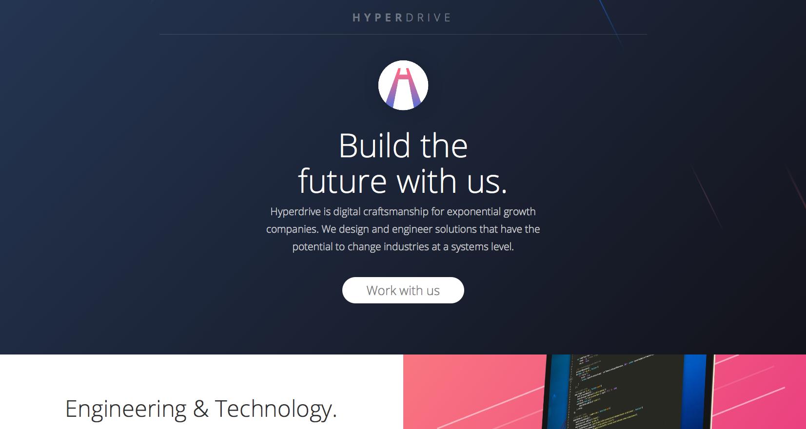 Hyperdrive agency website