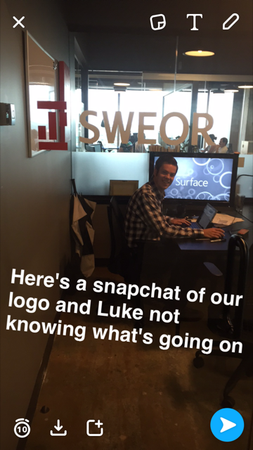 Snapchatting at SWEOR