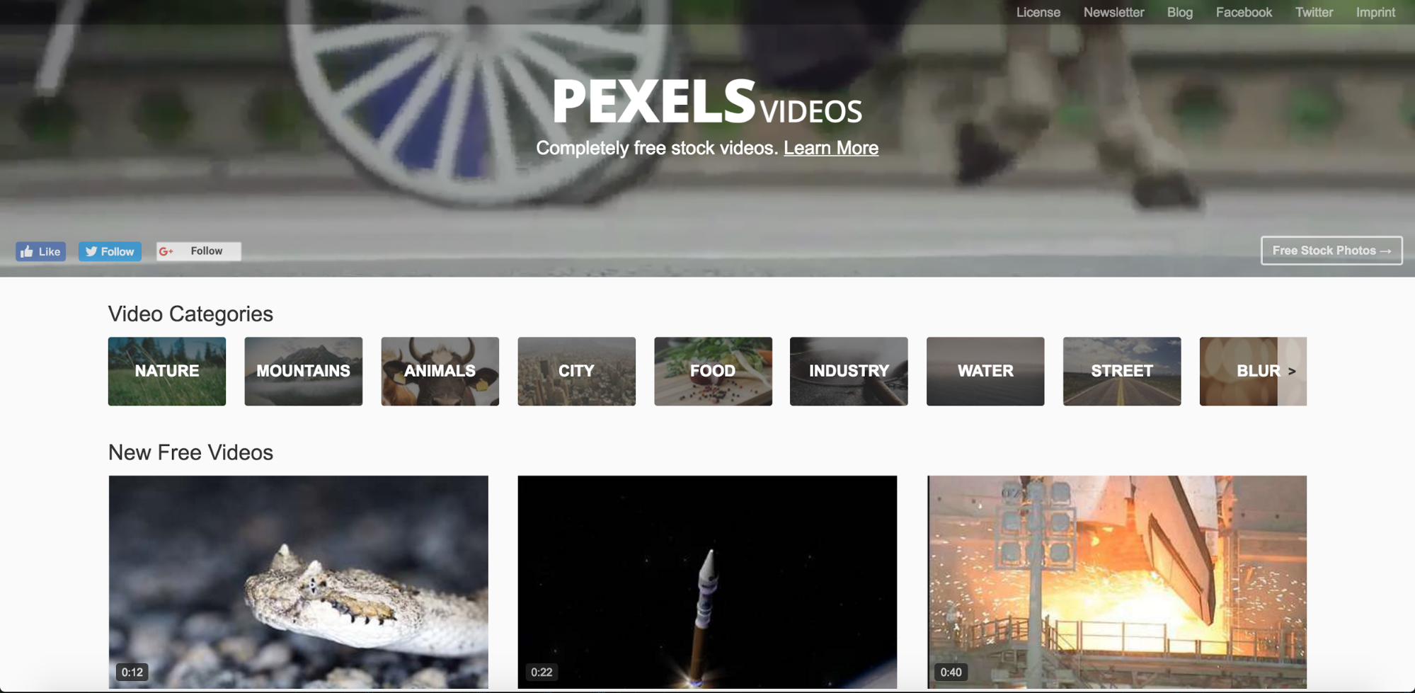 Pexels Videos hosts completely free stock videos
