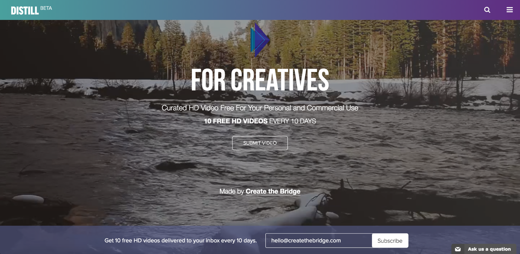 Distill offers free video files for creatives