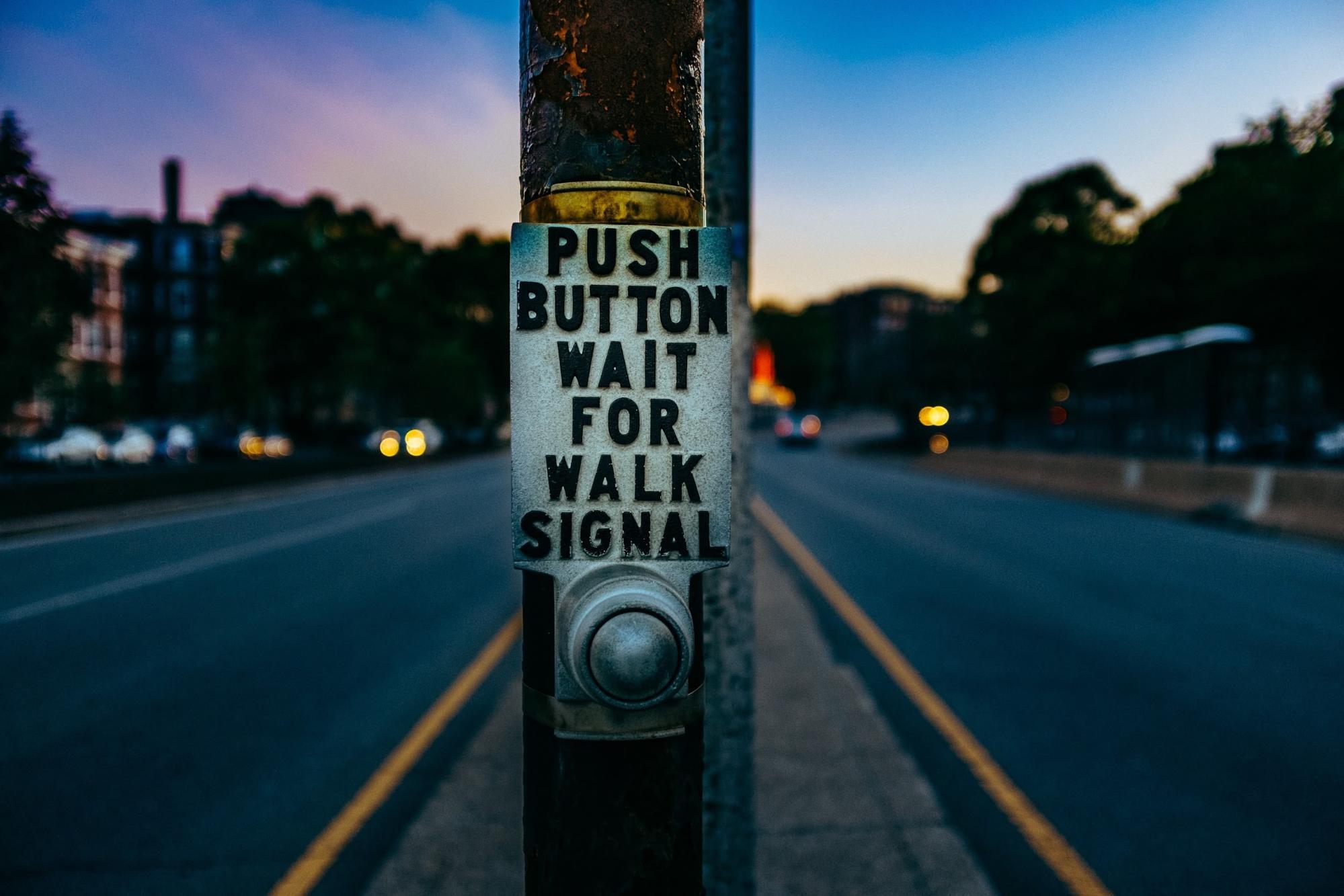 Walk signal button