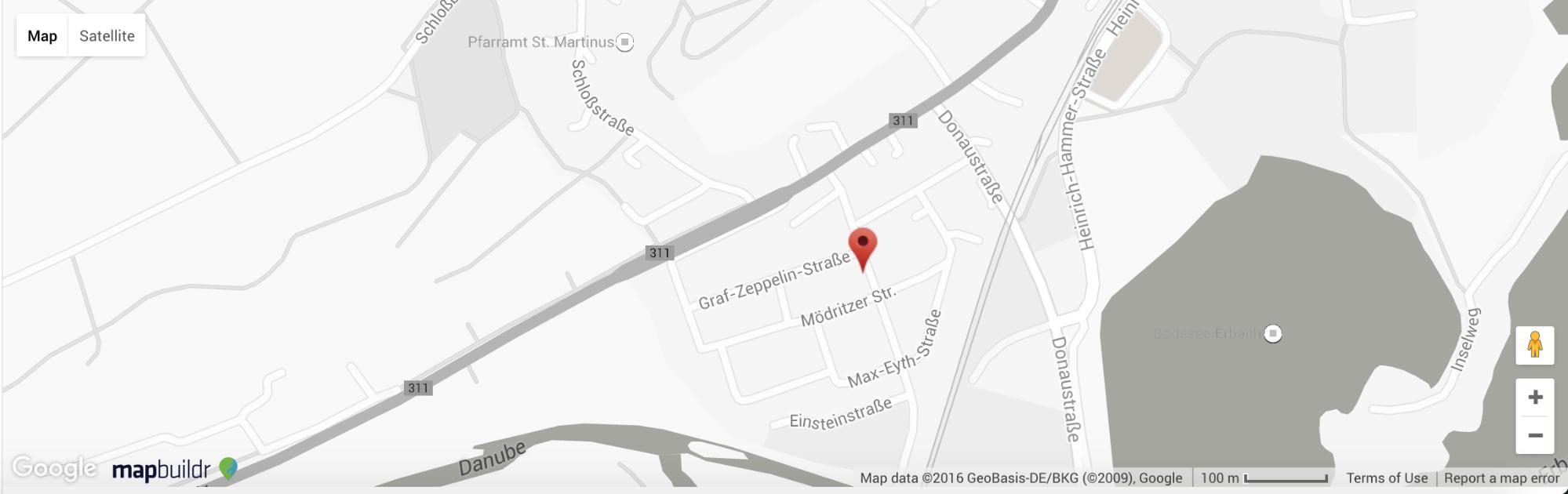 The MapBuilder-customized map the salon website features