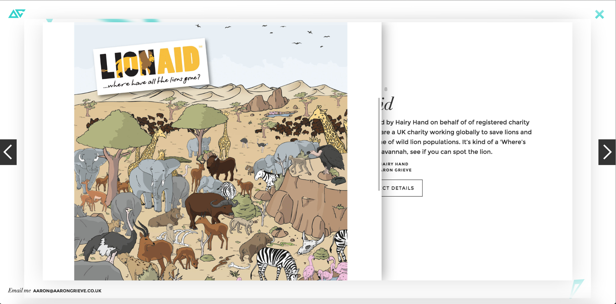 Case study design from Aaron Grieve's portfolio website