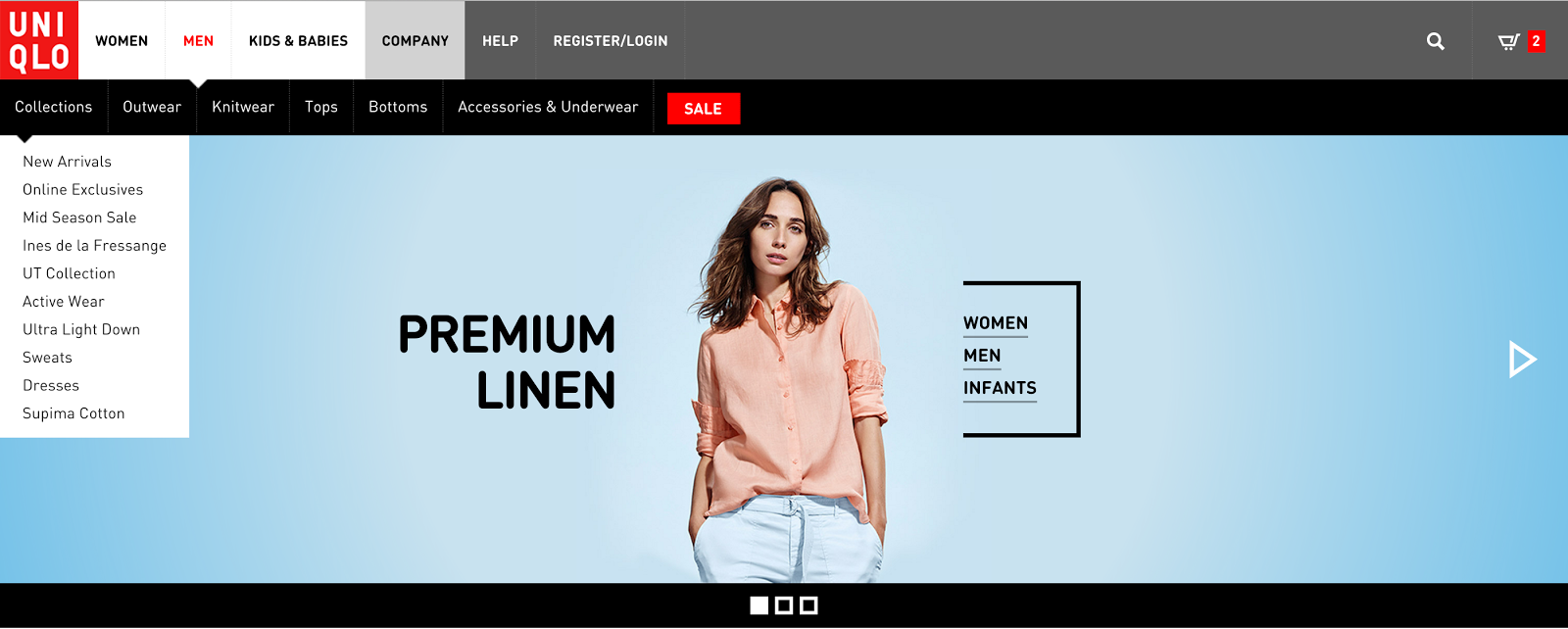 Timothy Noah's responsive redesign of UNIQLO