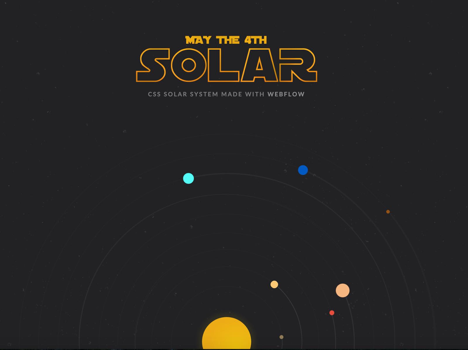 Vincent Bidaux's CSS-powered Solar Wars