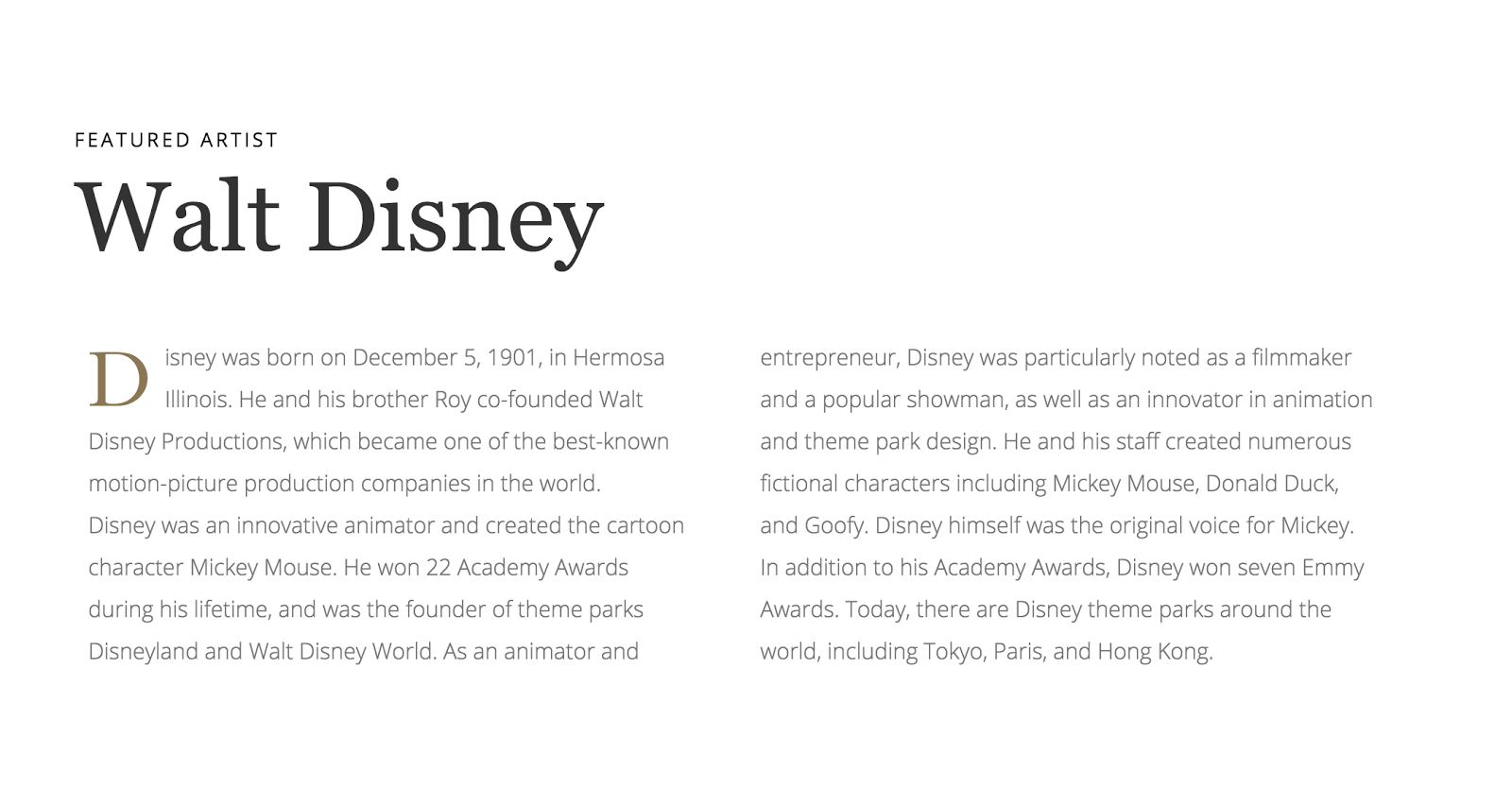The History of Imagination site combines Open Sans and Georgia in fresh ways