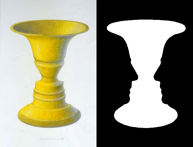 optical illusion of faces or vase