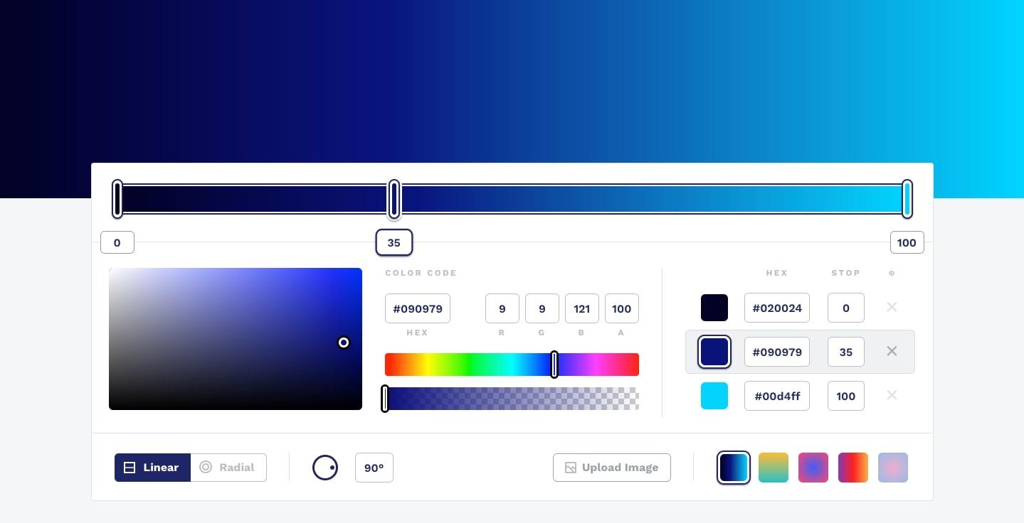 css gradient color picker