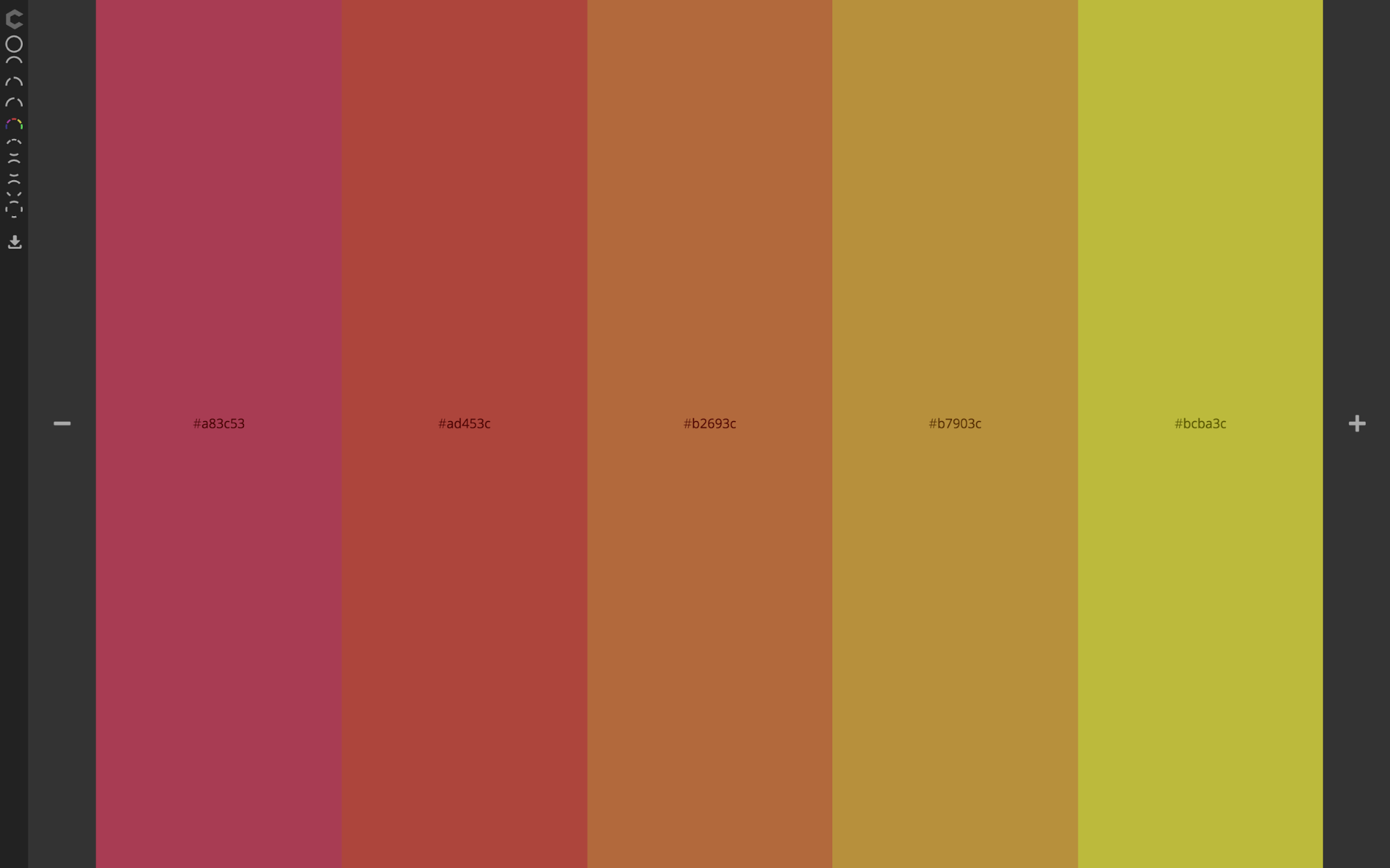 Analogous color scheme based on red, orange and yellow.