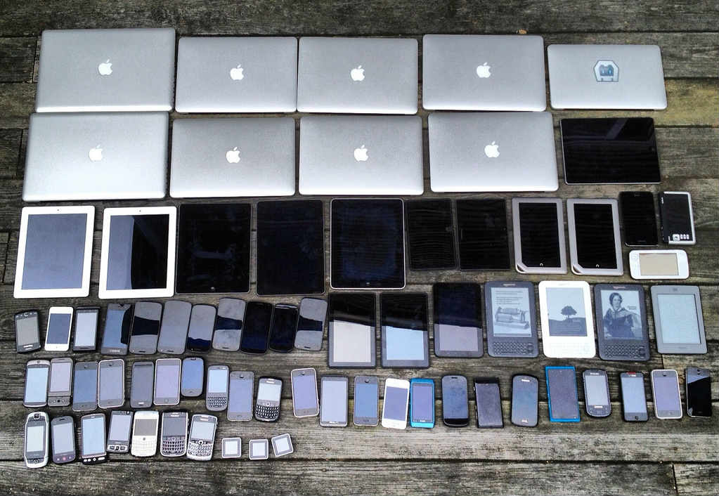 laptops, tablets, and smart phones