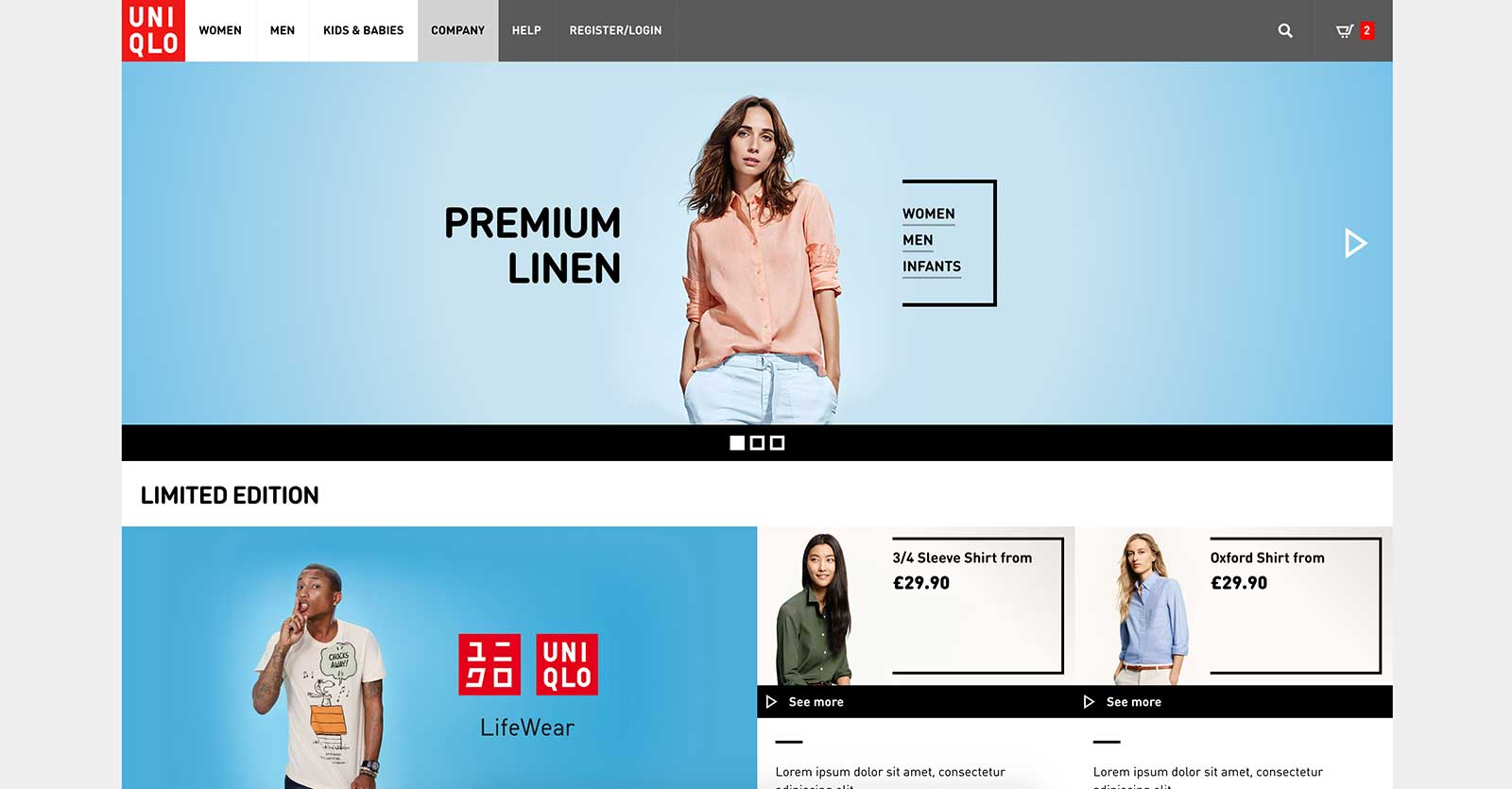 uniqlo alternative homepage