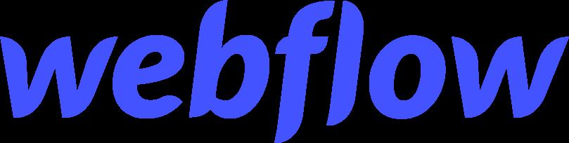 Webflow logo in blue
