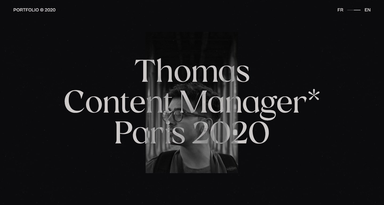 Screenshot of Thomas Bosc's portoflio