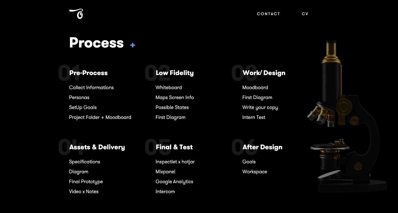 screenshot of Ojieame's design skills
