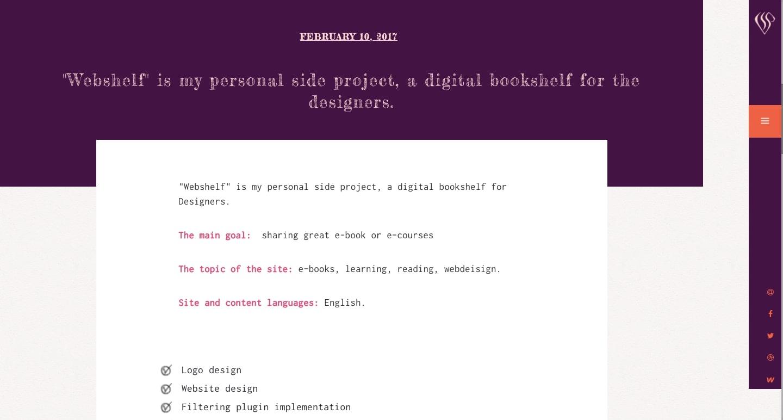 screenshot of Sabanna's side project