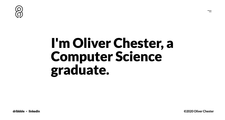 screenshot of Oliver Chester portfolio