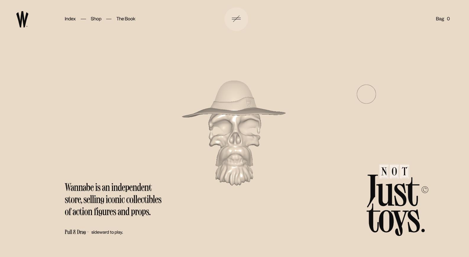 screenshot of wannabe's homepage