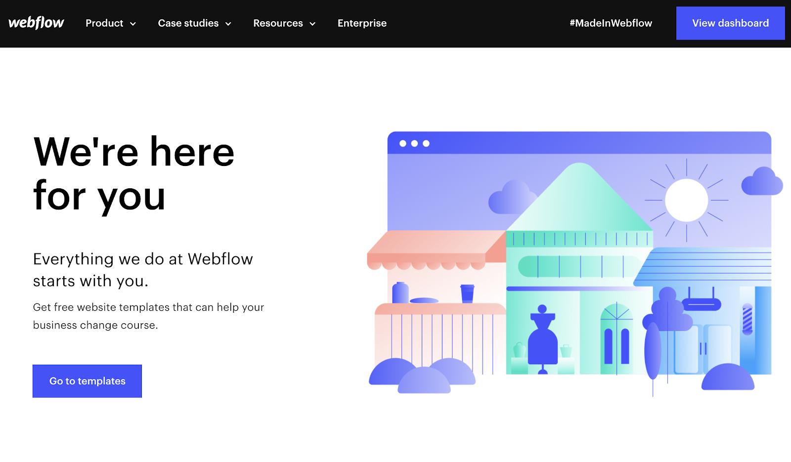 webflow SMB covid landing page
