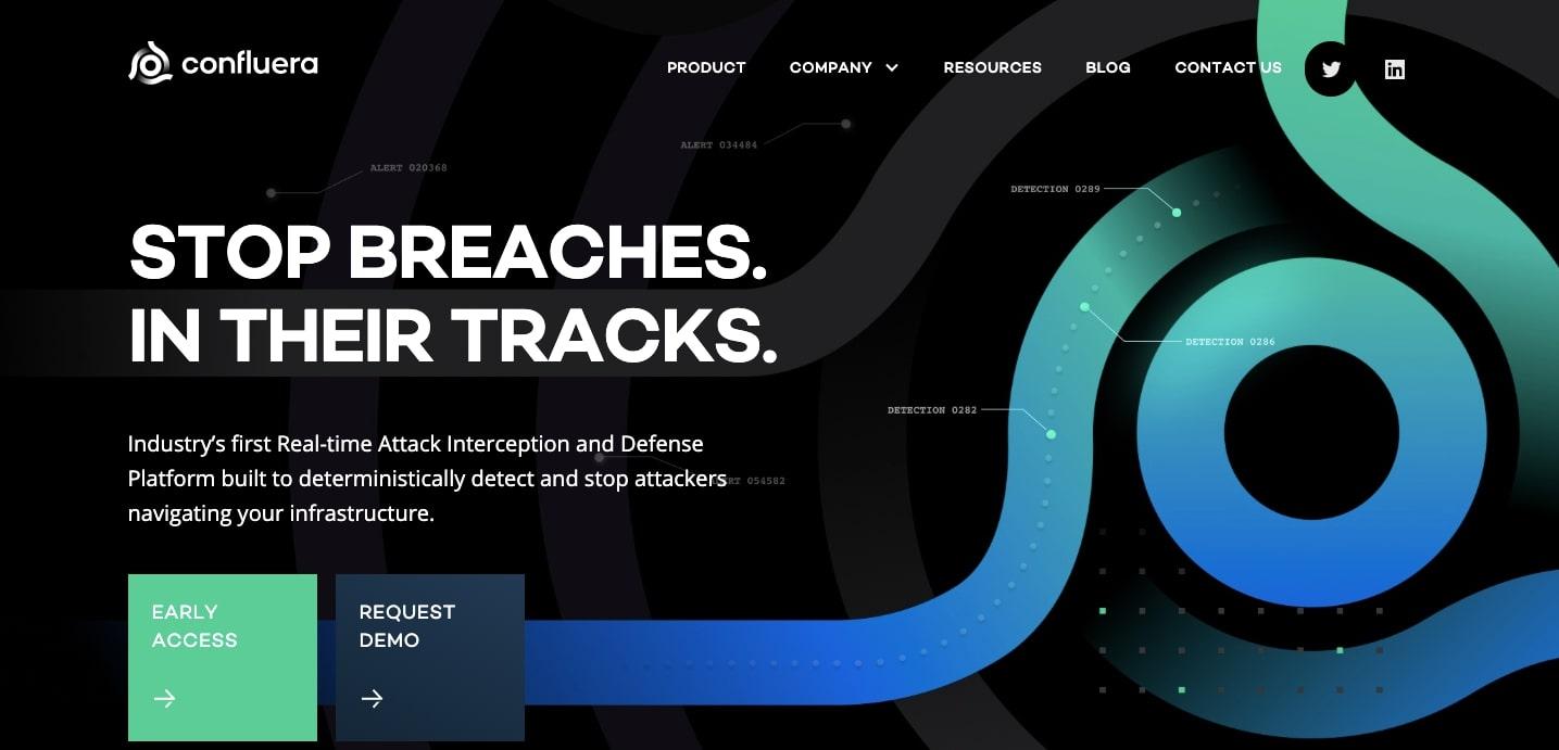 Confluera homepage