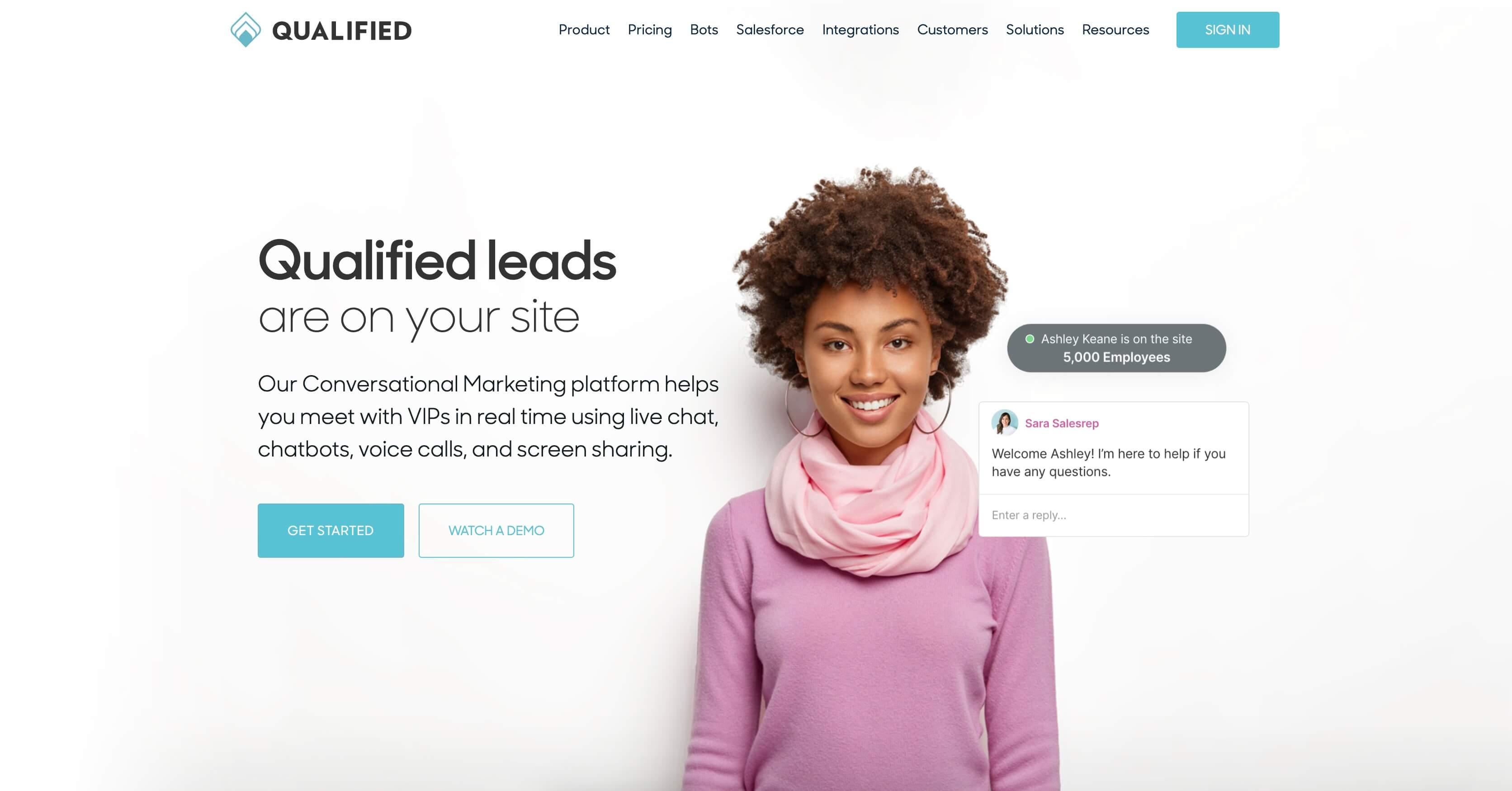 Qualified homepage