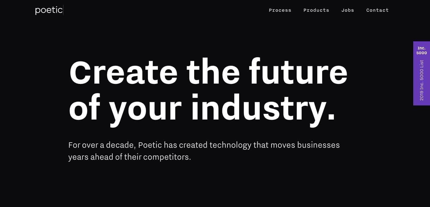 poetic homepage