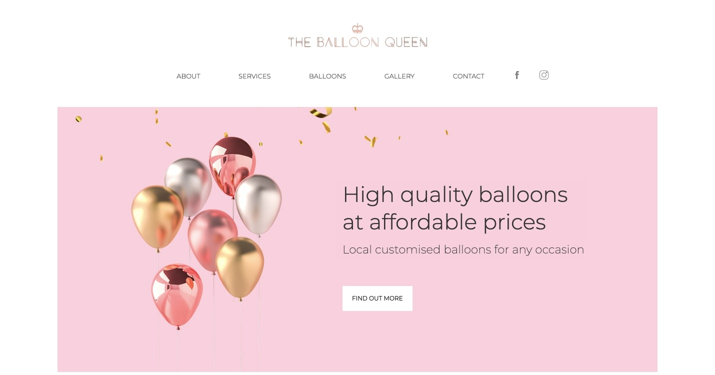 The Balloon Queen homepage