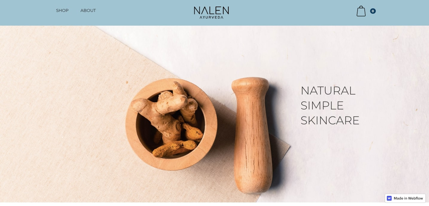 Nalen Ayurveda homepage