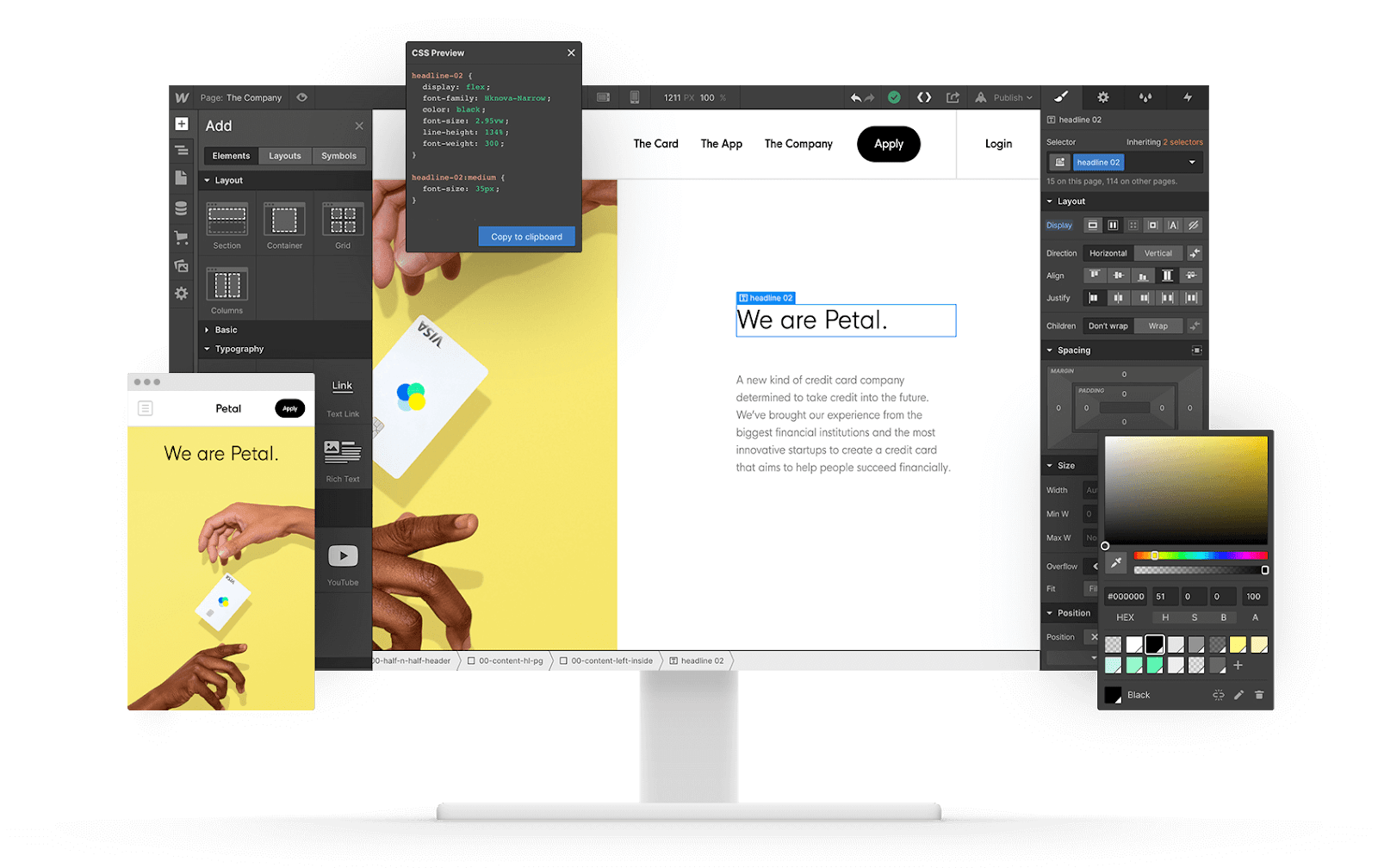 Webflow designer
