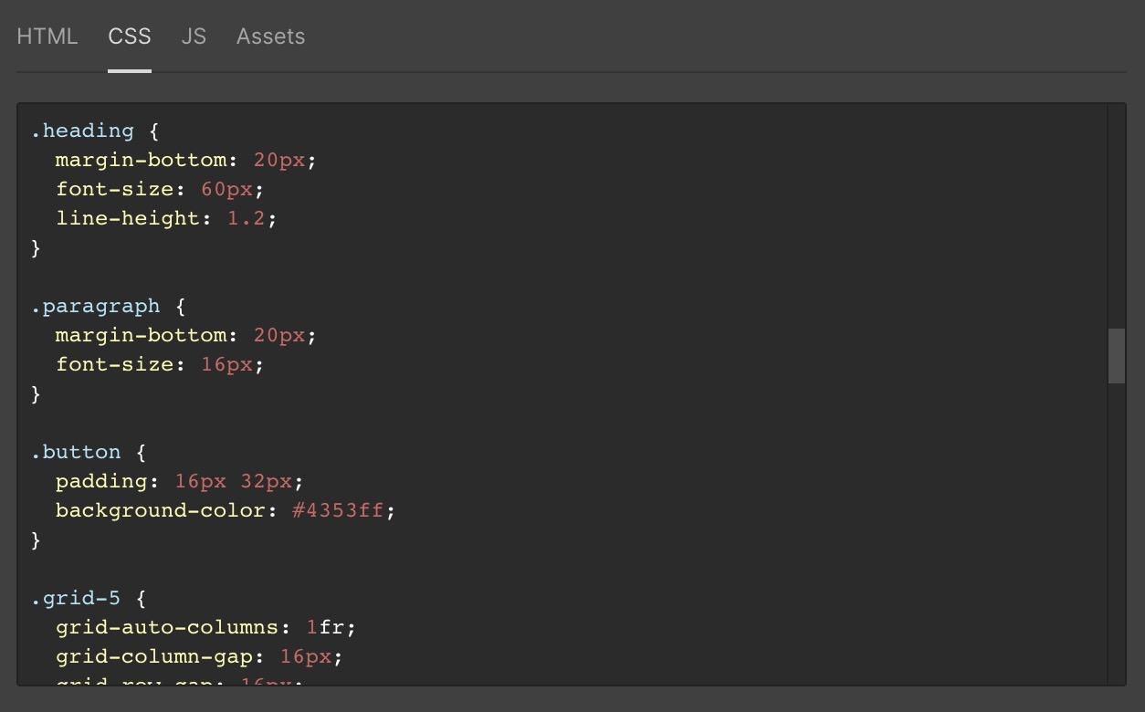 CSS in Webflow Designer