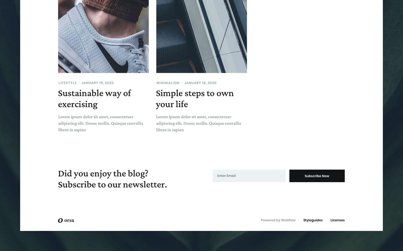 Orsa Webflow template