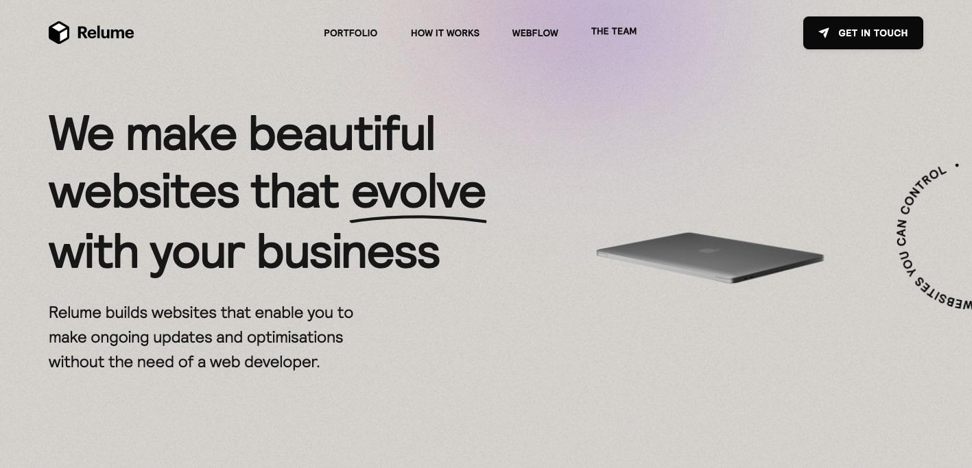 relume's website