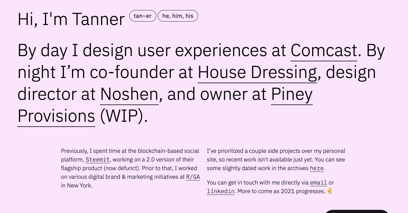 tanner panetta's website