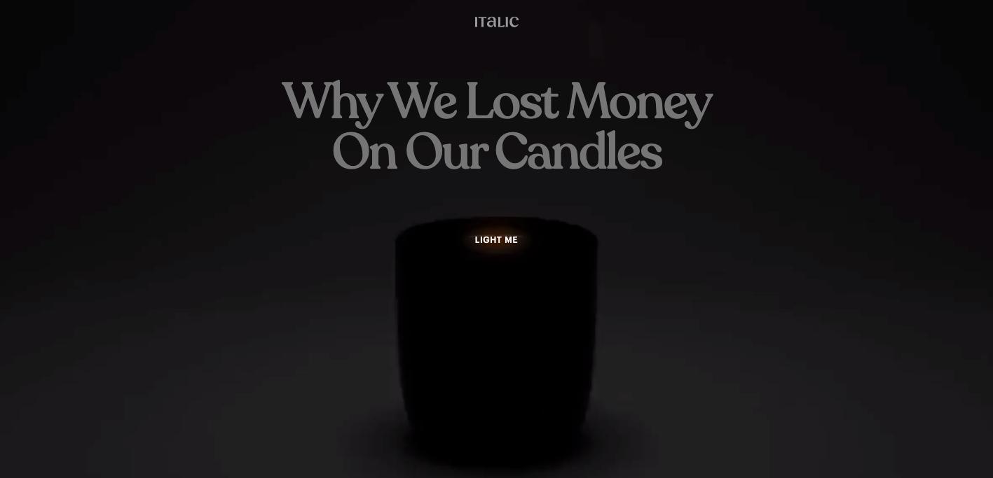 Italic candle website