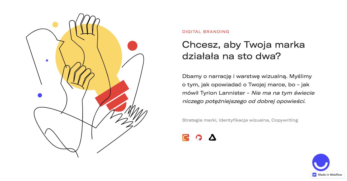 digital branding page