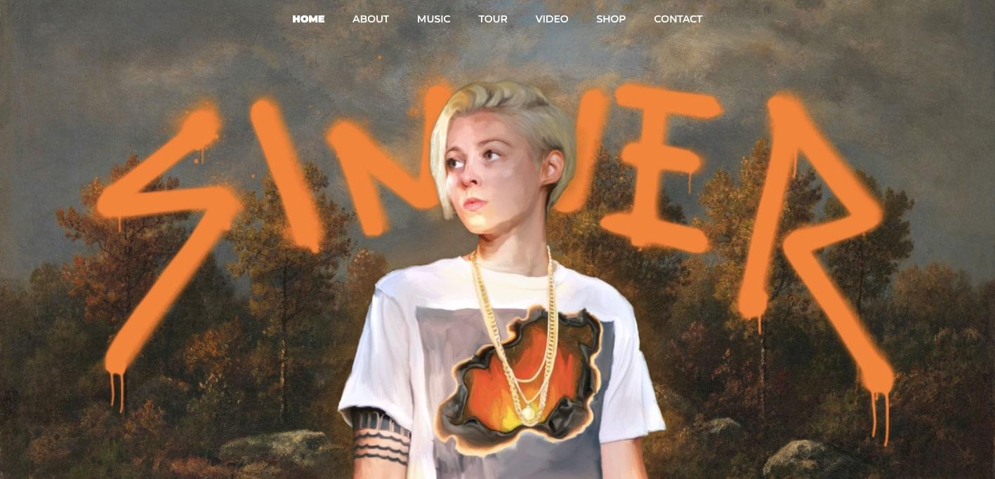 Amanda Lee Peers music website