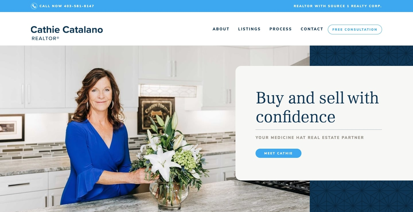 Cathie Catalano's real estate website