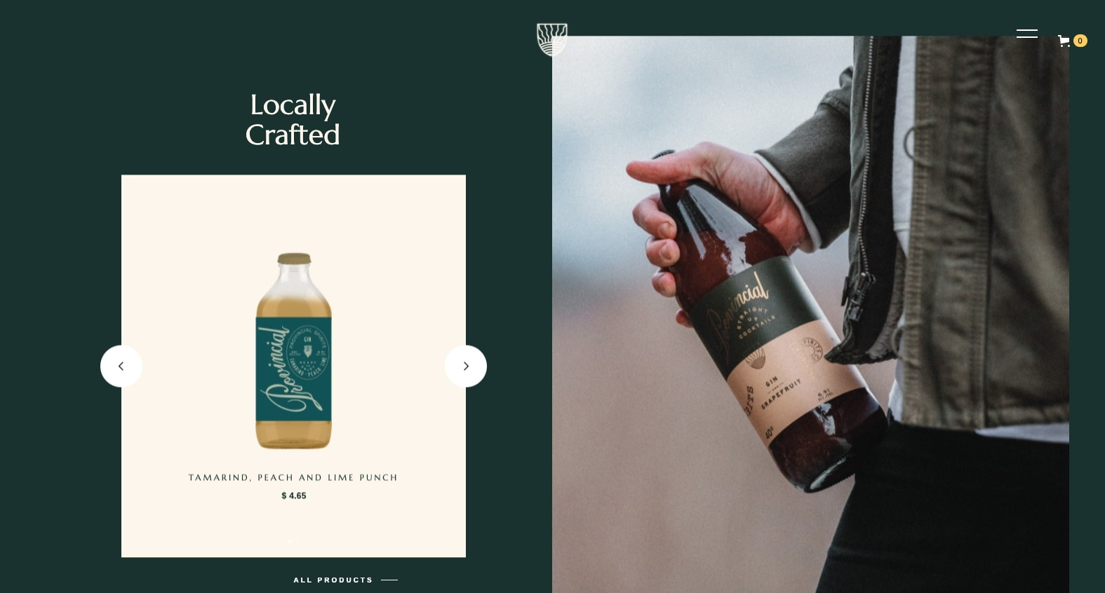 provincial spirits product page