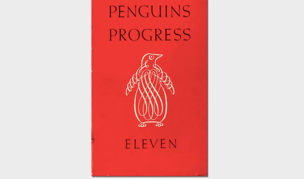Penguins Progress Eleven book cover design.