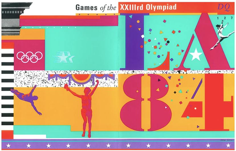 Design identity image for the 1984 Olympics in Los Angeles by Deborah Sussman