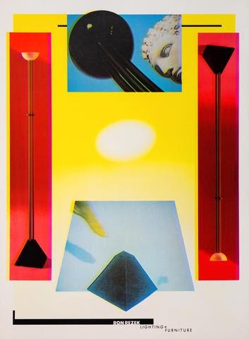 Ron Rezek, Lighting & Furniture poster, by April Greiman.
