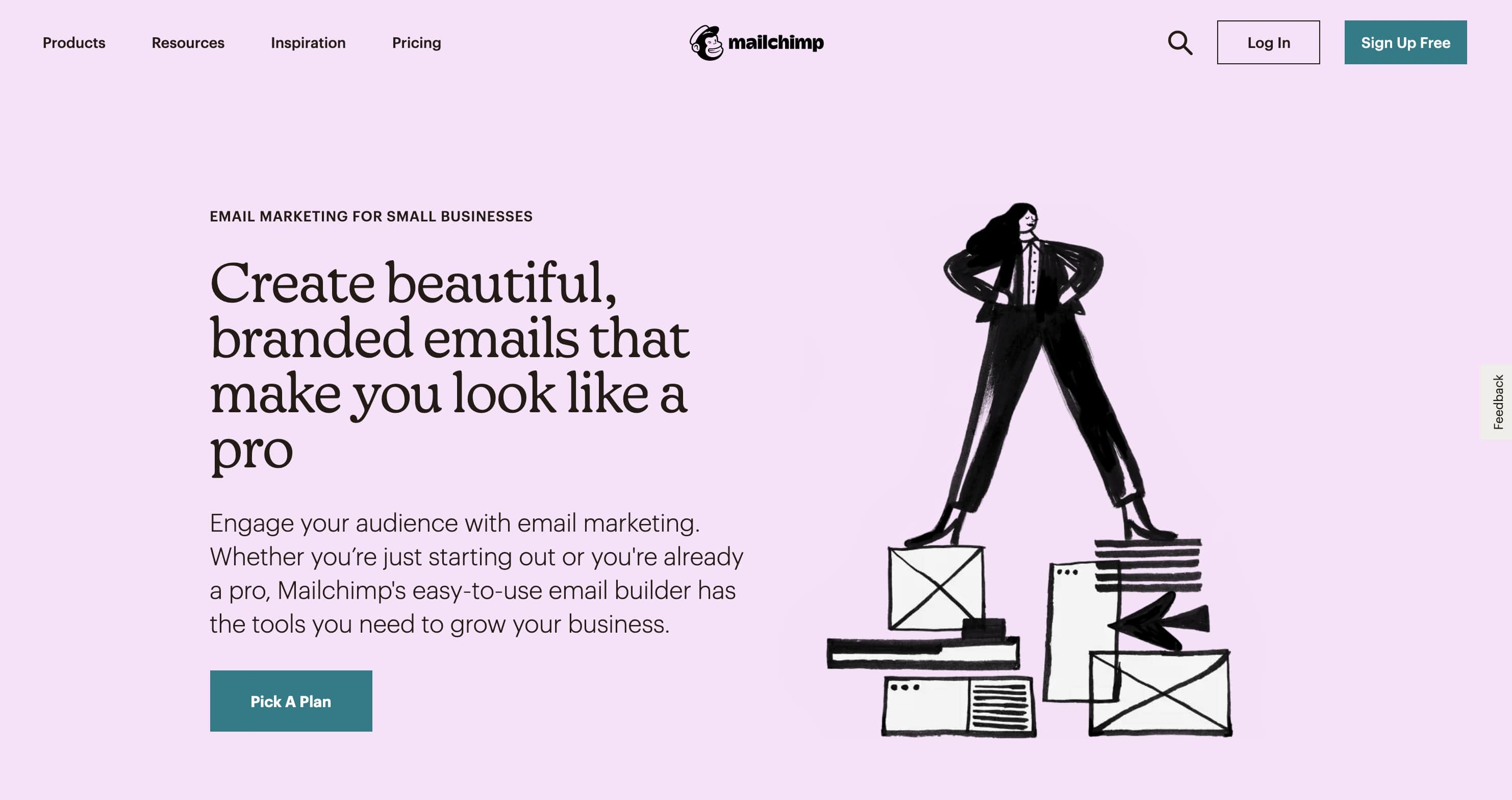 mailchimp email marketing use case page