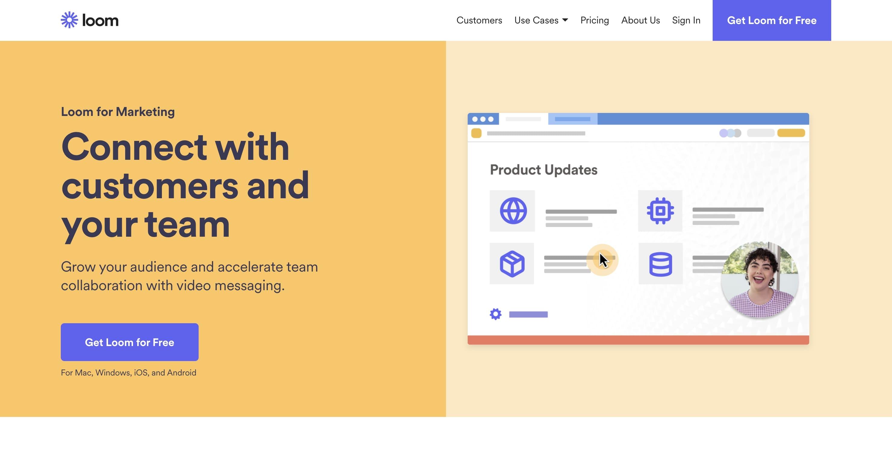 loom marketing use case page