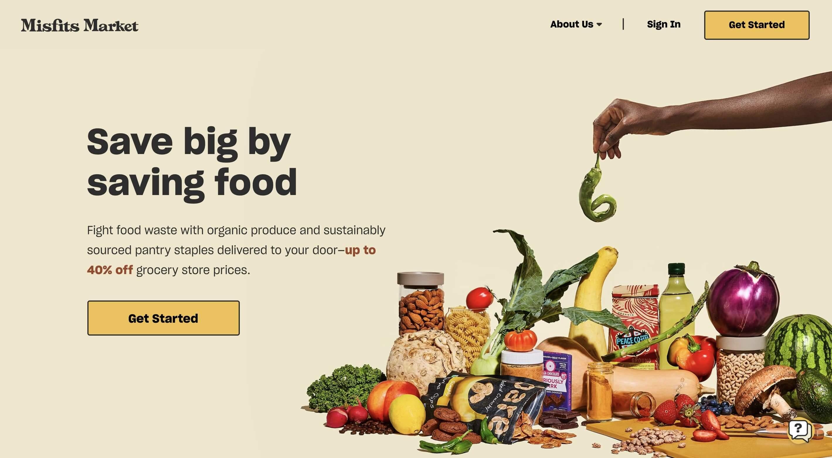 misfits market homepage
