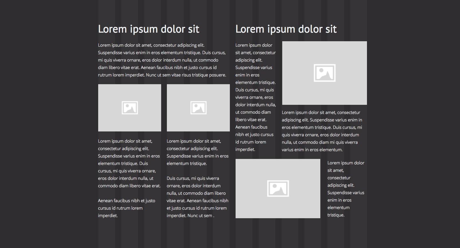Grid-based layout