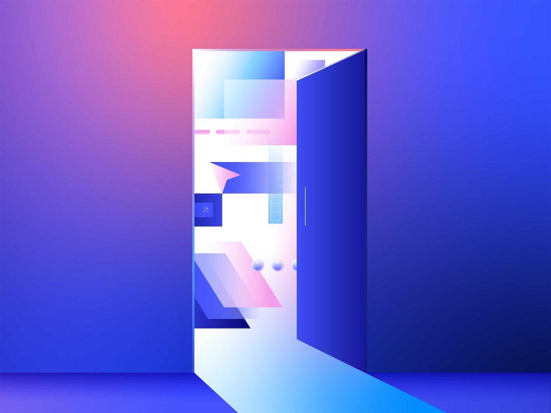 An image of a door